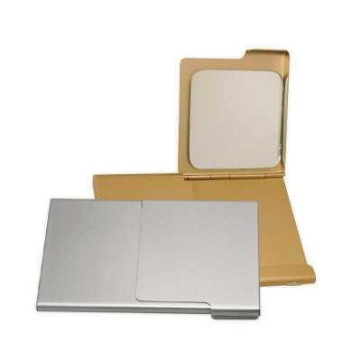 o-medico-das-canetas - Porta Cartão de Visita com Espelho e de Alumínio