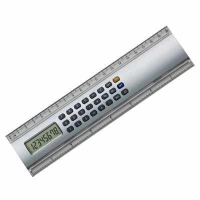o-medico-das-canetas - Régua 20cm com Calculadora de Metal