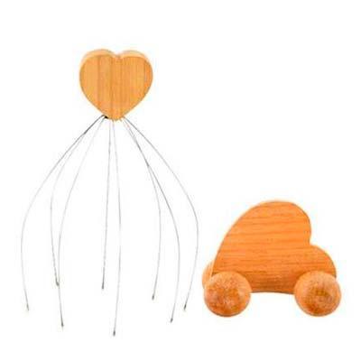 Amor Perfeito Massageadores em... - Kit Coração Relax   O Kit 656 é composto pelos massageadores: Cafuné (para a cabeça) e Bumerang (para todo o corpo), ambos em madeira e em formato de...
