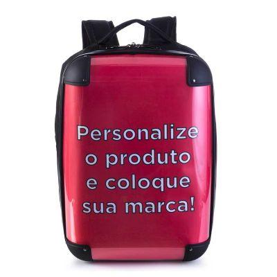 Lansay Fico - As mochilas da linha cristal são confeccionadas em policarbonato e poliéster, com frente transparente, o que permite que sua imagem aplicada no interi...
