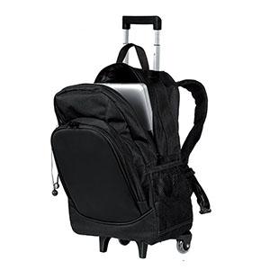 GND Promocional - Mochila em oxford com suporte para notebook e carrinho.