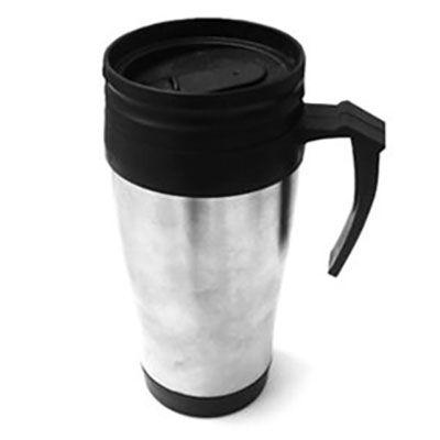 - Caneca de inox com tampa •Capacidade para 450 ml, com detalhes na alça. •Embalagem: caixa branca. •Tamanho: 17,8 cm x 26,0 cm •Peso :286 g Logomarca:...