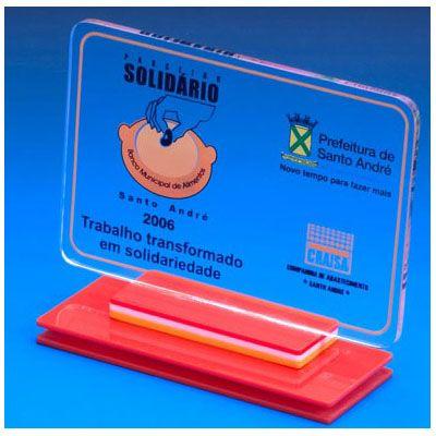 acrilicos-bristol - Troféu de acrílico com placa
