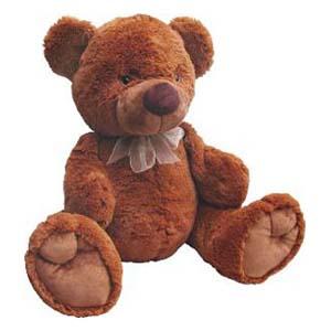 Mascote de pelúcia da série Fofis Bears - Urso Marrom.