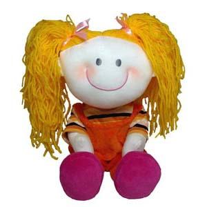 Mascote de pelúcia da série As Cabeludas - Ana.