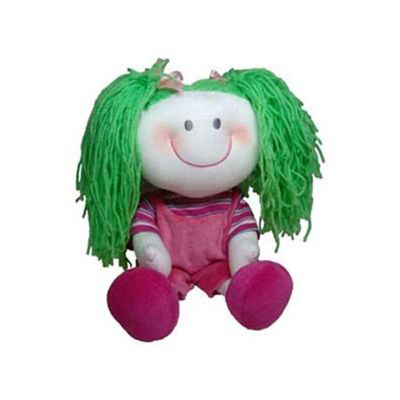 Mascote de pelúcia da série As Cabeludas - Gabriela.