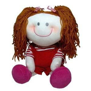 Mascote de pelúcia da série As Cabeludas - Maria.