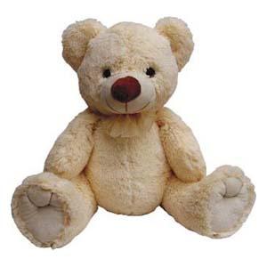 Mascote de pelúcia da série Fofis Bears - Urso Bege.