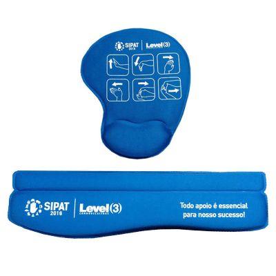 Color Screen Comunicação Visua... - Kit ergonômico com mouse pad e apoio para teclado personalizado
