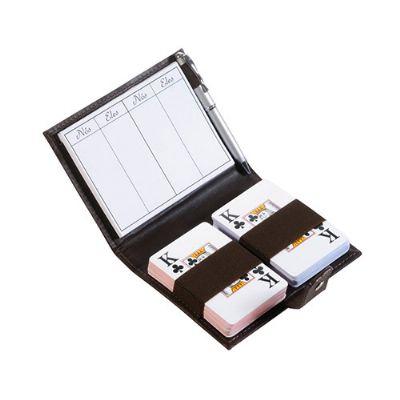 couro-impresso - Porta-baralho personalizado em couro ou sintético.