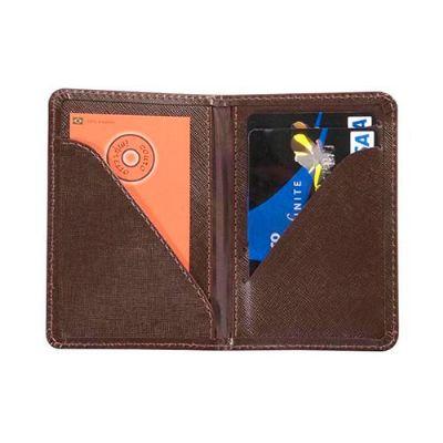 Maria Coura Brindes - Porta-cartão personalizado em couro ou sintético para cartão de crédito e de visita.