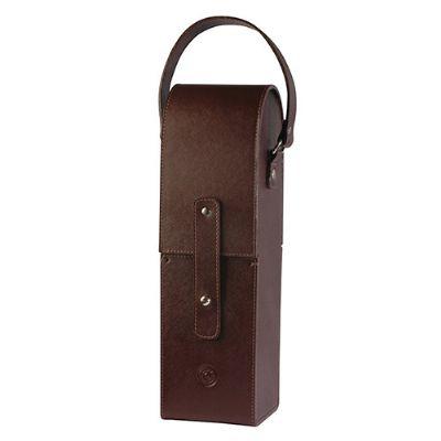 couro-impresso - Porta vinho personalizado em couro.