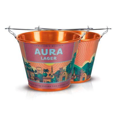 alumiart-falcao - Balde de alumínio Aura Lager