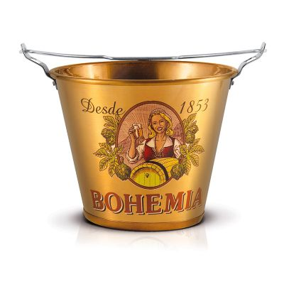 balde de alumínio Bohêmia retrô