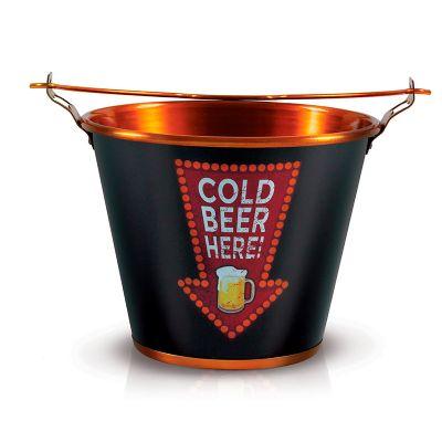 alumiart-falcao - Balde de alumínio Cold Beer Here