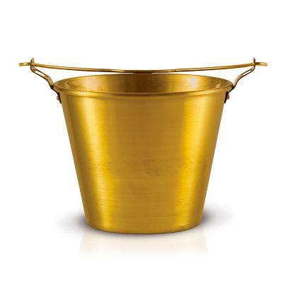 alumiart-falcao - Balde de alumínio colorido dourado verniz