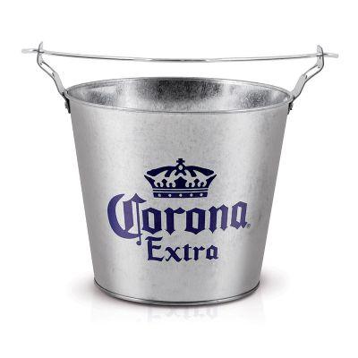 alumiart-falcao - Balde de alumínio Corona Extra galvanizado