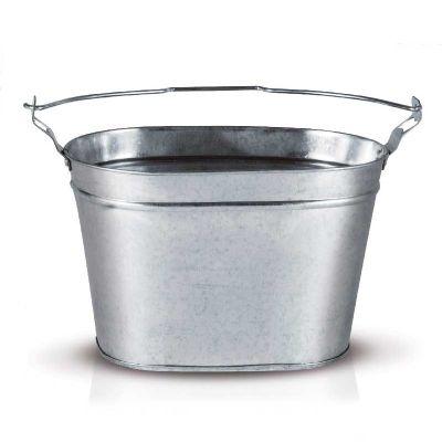 alumiart-falcao - Balde oval sem pintura com abridor