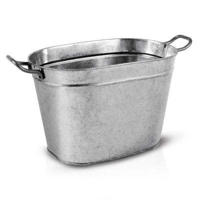 alumiart-falcao - Balde oval sem pintura e alça