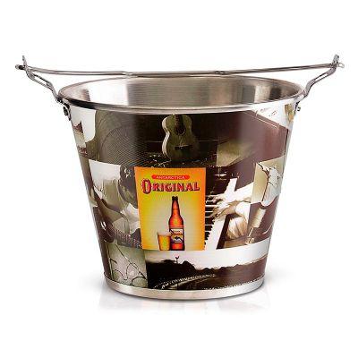 alumiart-falcao - balde de alumínio Antárctica Original