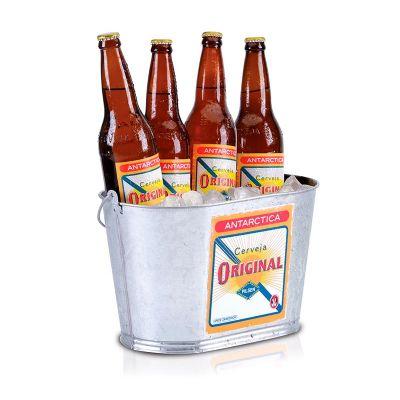 alumiart-falcao - balde para gelo Antárctica Original oval