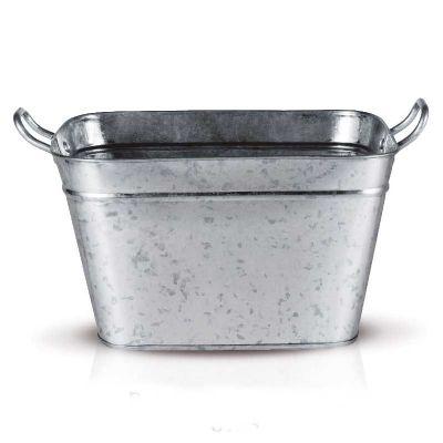 alumiart-falcao - Balde retangular galvanizado