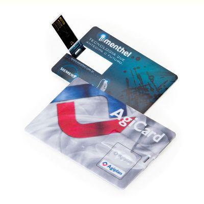 Asga Brindes - Pen card personalizado, 4GB.