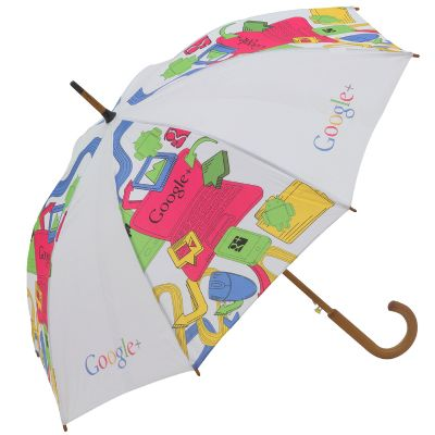 Black Sun - Guarda-chuva de uso pessoal - 1.20m de diâmetro cabo e varão de madeira, acionamento automático