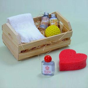 Brindes da Terra - Kit relaxamento com toalha de lavabo (30x48) branca, 3 frascos com 30ml, loção hidratante, espuma de banho e sabonete líquido, todos com essências nat...