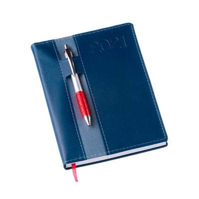 Agenda diária personalizada azul