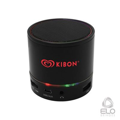 elo-brindes - Caixinha de som Bluetooth com luzes de LED