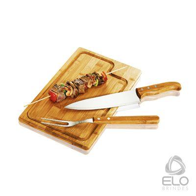 Elo Brindes - Conjunto para churrasco com 03 peças.