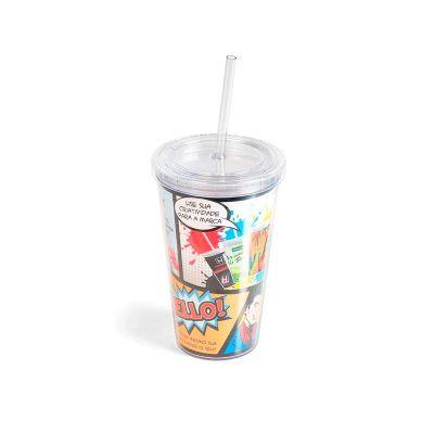 elo-brindes - Copo plástico personalizado com capacidade para 500 ml.