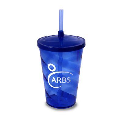 Elo Brindes - Copo plástico com tampa e capacidade 700 ml.