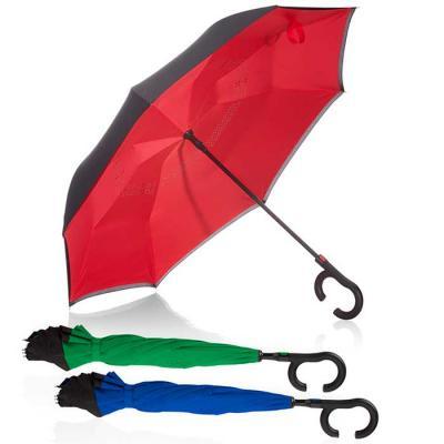 O guarda-chuva invertido personalizado oferece espaço suficiente para divulgar a sua marca ou cam...