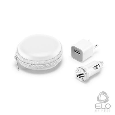 Elo Brindes - Kit de carregadores USB.