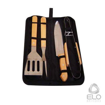 Elo Brindes - Kit churrasco com 4 peças.