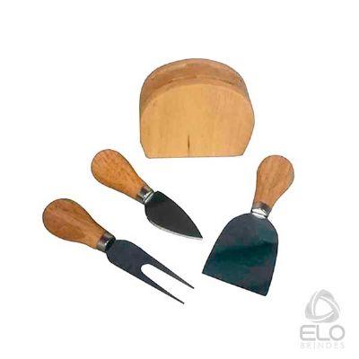 elo-brindes - Kit queijo em madeira
