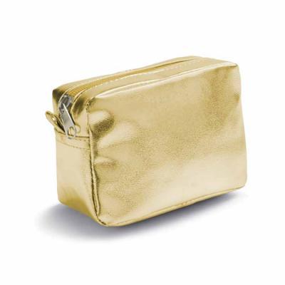 Nécessaire dourada personalizada