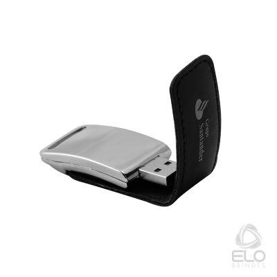 Elo Brindes - Pen drive personalizado em courino.