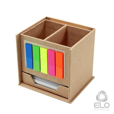 Elo Brindes - Porta-recado com bloco e sticky.