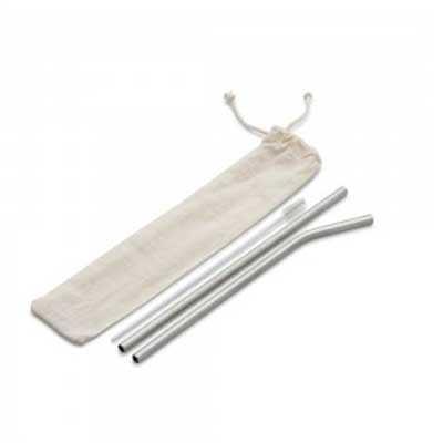 Kit com 2 canudos de aço e 1 limpador Personalizado