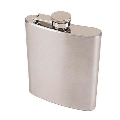 Globo Brindes - Cantil de inox 200 ml (7 oz) 12 x 9 x 2.5 cm
