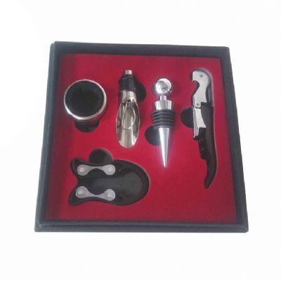Globo Brindes - Kit vinho com 5 peças 17,5 x 17,5 x 5 cm