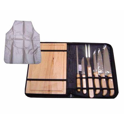 - Kit churrasco com 8 peças 36 x 24 x 4 cm