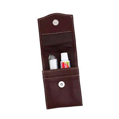 globo-brindes - Kit higiene bucal de couro