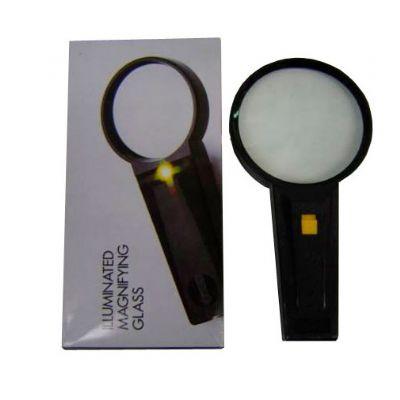 Lupa 90mm com luz 19 x 9.5 x 3 cm - Globo Brindes