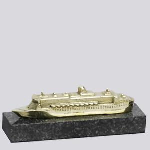 Formas do Fogo - Navio personalizado em bronze.