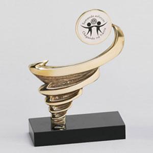 formas-do-fogo - Peça Furacão personalizada com medalha para aplicação de logotipo.