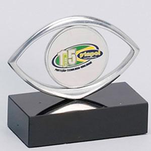 Formas do Fogo - Troféu Personalizado em alumínio com medalha para aplicação de logotipo.
